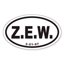 Z.E.W. Euro Oval Stickers
