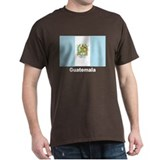 Guatemala Flag (Front) Black T-Shirt