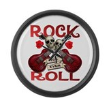 Real Rock N Roll 4 Ever Large Wall Clock