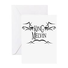 King Melvin Greeting Card