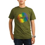 Big Rainbow Lips Organic Men's T-Shirt (dark)