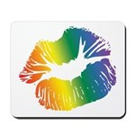 Big Rainbow Lips Mousepad