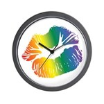 Big Rainbow Lips Wall Clock