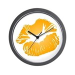 Big Orange Lips Wall Clock