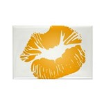 Big Orange Lips Rectangle Magnet (10 pack)