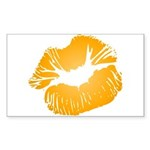 Big Orange Lips Rectangle Sticker 10 pk)