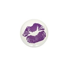 Big Purple Lips Mini Button (10 pack)
