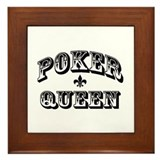 Poker Queen Framed Tile