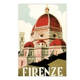 Italy Travel Poster Postcards (Package of 8)