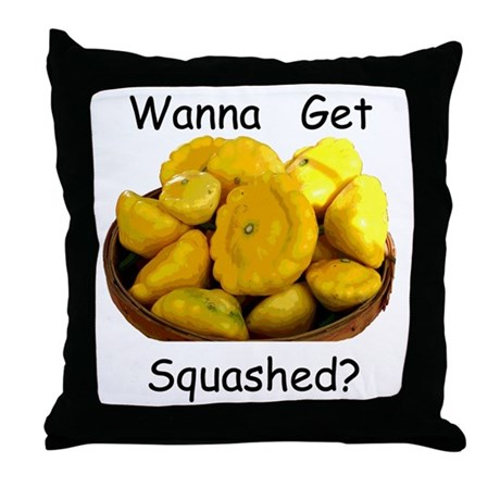 Get Squashed Throw Pillow