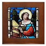 Saint Cecilia Framed Tile
