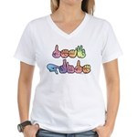 Deaf Pride Pastel Women's V-Neck T-Shirt