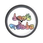 Deaf Pride Pastel Wall Clock