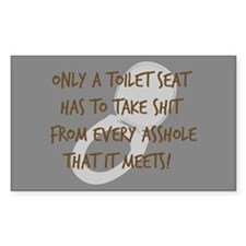 Toilet Seat Rectangle Sticker 50 pk)