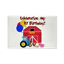 Farm First Birthday Rectangle Magnet (10 pack)