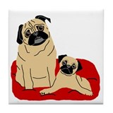 Isabelle and Madison Tile Coaster