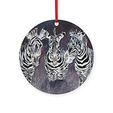 Funny Zebras Ornament (Round)