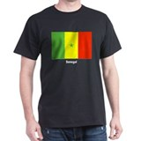 Senegal Flag (Front) Black T-Shirt