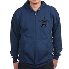 Cool Flying v guitar Zip Hoodie