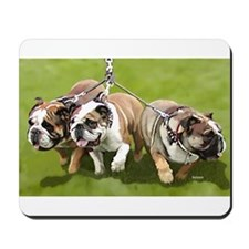 Bulldogs Butts Coming and Going Mousepad