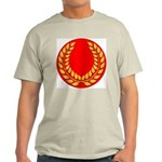 Red with gold laurel Ash Grey T-Shirt