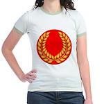 Red with gold laurel Jr. Ringer T-Shirt