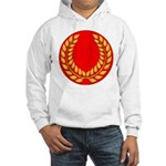 Red with gold laurel Hooded Sweatshirt