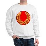 Red with gold laurel Sweatshirt