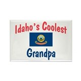 Coolest Idaho Grandpa Rectangle Magnet