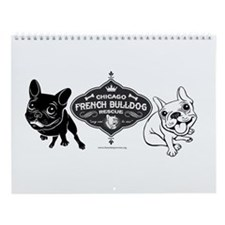 Funny French bulldog Wall Calendar