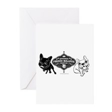 Cute French bulldog Greeting Cards (Pk of 10)
