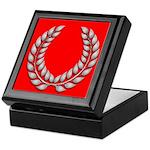 red with silver laurel Keepsake Box