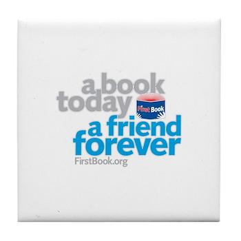 First Book Tile Coaster