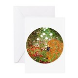 Klimt's Flower Garden Greeting Card