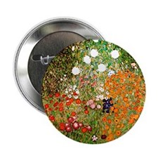 Klimt's Flower Garden Button