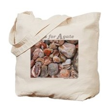 """A is for Agate"" Tote Bag"