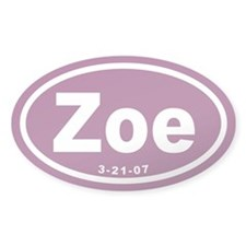 Zoe Euro Oval Decal