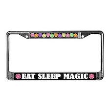 Eat Sleep Magic License Plate Frame