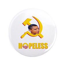 "Anti Obama T-Shirts 3.5"" Button"