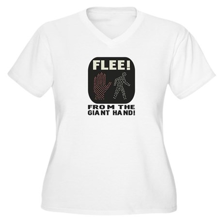 FLEE! Women's Plus Size V-Neck T-Shirt