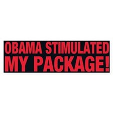 Obama Stimulated My Package! - Bumper Bumper Sticker