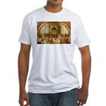 Raphael School of Athens Fitted T-Shirt