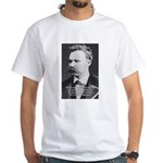 Nietzsche: Live Dangerously White T-Shirt