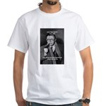 Existentialist Jean-Paul Sartre White T-Shirt