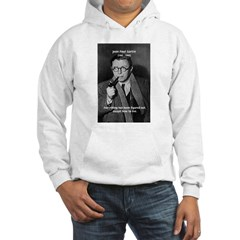 Existentialist Jean-Paul Sartre Hooded Sweatshirt