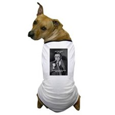 Existentialist Jean-Paul Sartre Dog T-Shirt