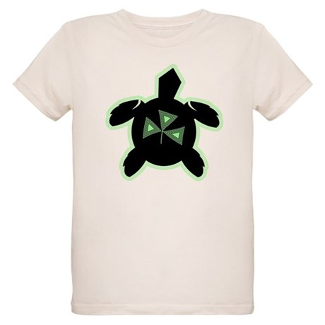 Shamrock Sea Turtle Organic Kids T-Shirt