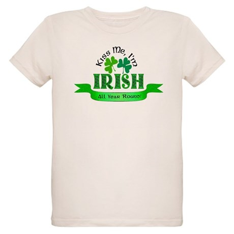 Kiss Me I'm Irish Organic Kids T-Shirt