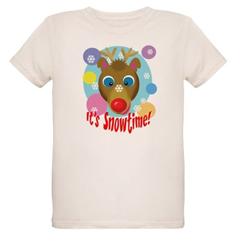 It's Snowtime! Organic Kids T-Shirt