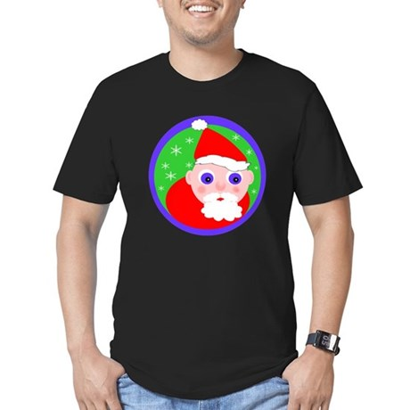 Santa Cartoon Men's Fitted T-Shirt (dark)